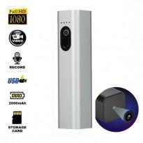 กล้อง Mini Power Bank HD1080P ใช้ชาร์จมือถือได้จริง ถ่ายวีดีโอต่อเนื่องได้ประมาณ 3 ชั่วโมง