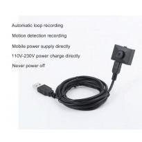 กล้องกระดุม ต่อตรงไฟบ้าน ความละเอียด HD1080P หรือ Power Bank