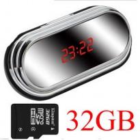 กล้องนาฬิกาตั้งโต๊ะHD 1080P(32GB) (ถ่ายวีดีโอได้นานสุดๆ) เสียบตรงไฟบ้านถ่ายได้ มีHDMI