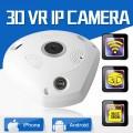 IP VR 360 Panoramic Camera HD 960P Infared กล้องวงจรปิด 3D ใช้งานร่วมกับ VR ฺBox ได้